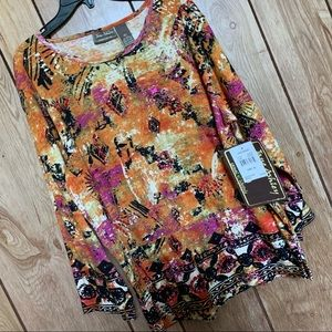 NWT Jane Ashley XL patterned top
